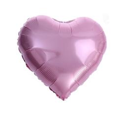 "Foil Heart, Pink 18"" (45cm.)"