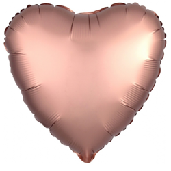 "Foil Heart, RoseGold 18"" (45cm.)"