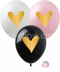 "SHOW™ 12"" ""Gold Heart"" (10 pcs.)"