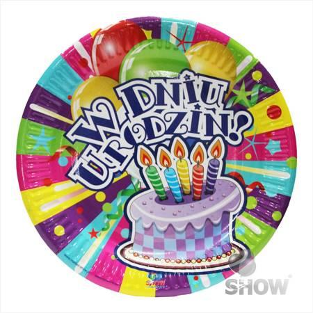 "Paper Plate ""W Dniu Urodzin"" (6 pcs.)"