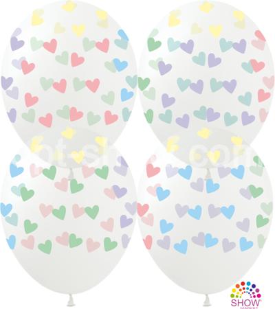 "SHOW™ 12"" ""Colorful hearts"" (10 pcs.)"