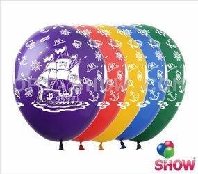 """Balony 12""""  """"Statek"""" (10 szt.)"""