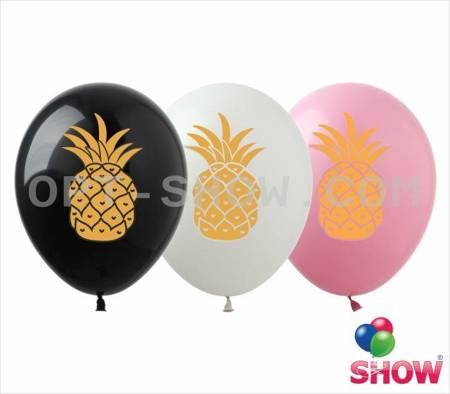 """Balony 12""""  """"Ananas"""" (10 szt.)"""