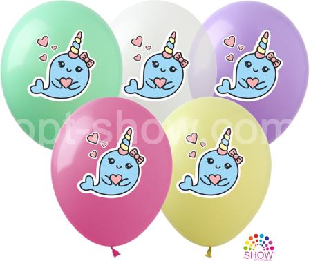 "Balony  ""Jednorożeс-Delfinek"" (10 szt.)"